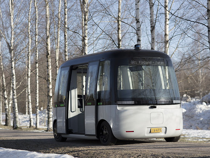 GACHA - a self-driving bus for all weather conditions